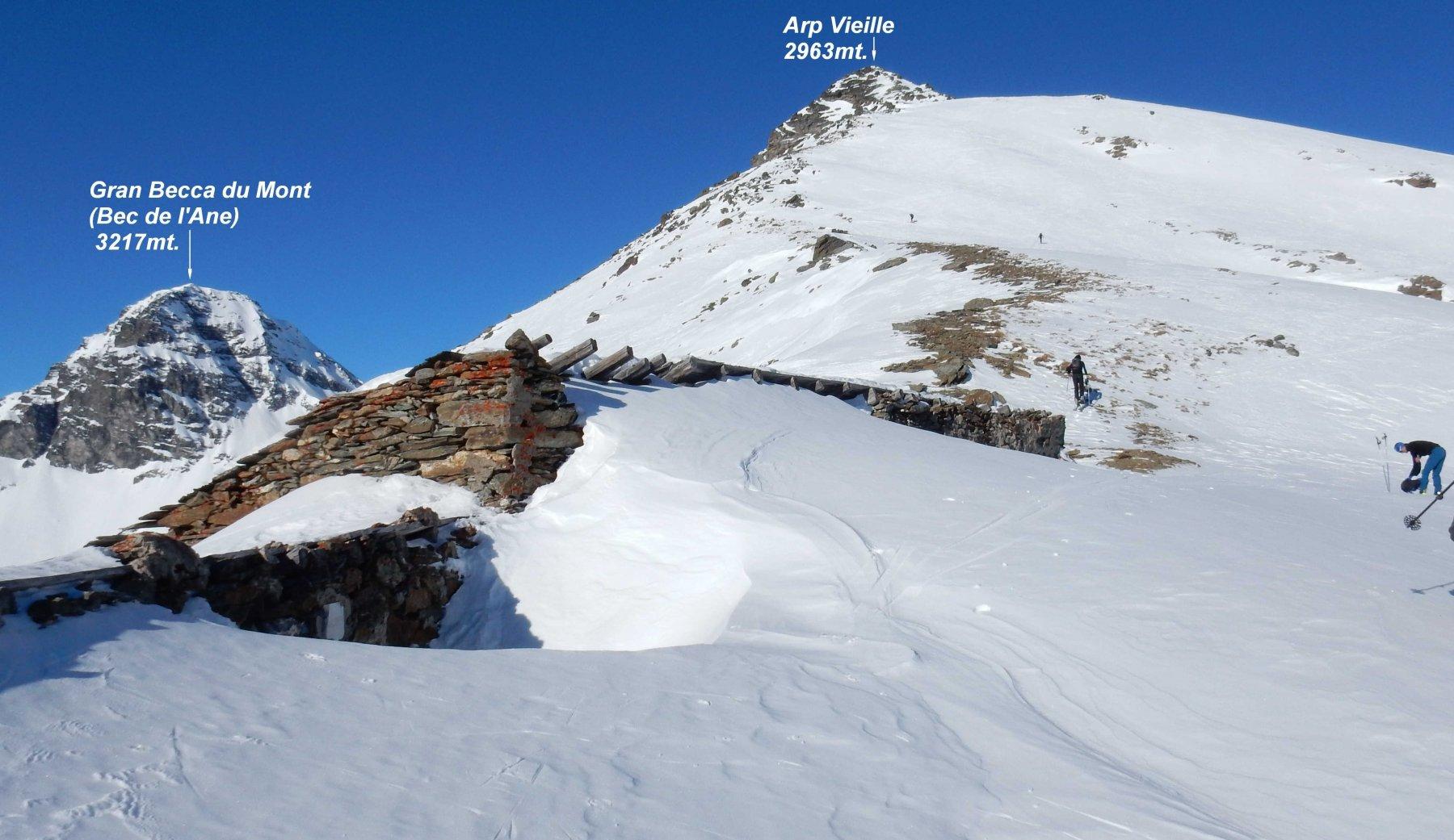 Panorama giunti alla spalla verso l'Arp Vieille.