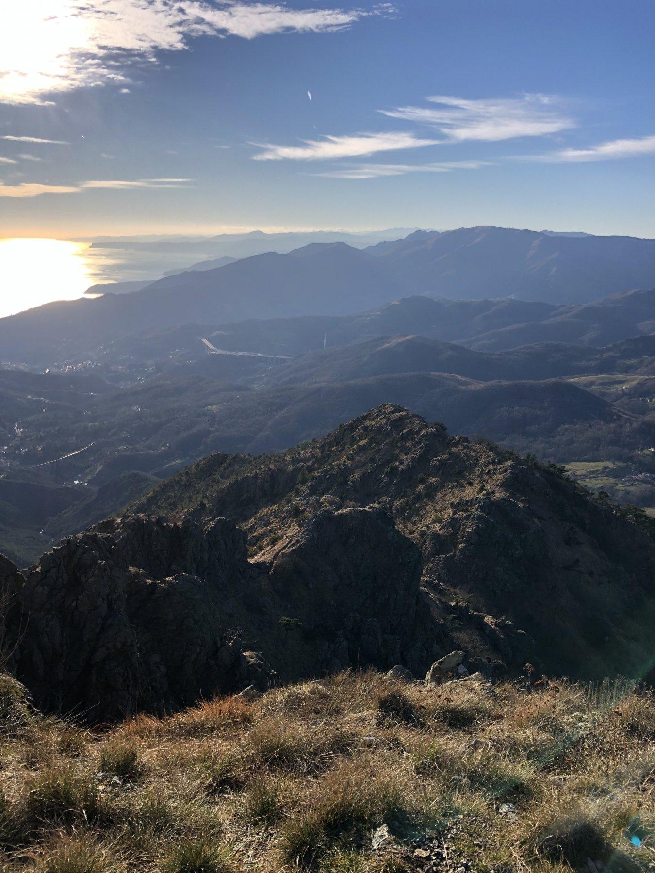 La vista sulla riviera di Ponente