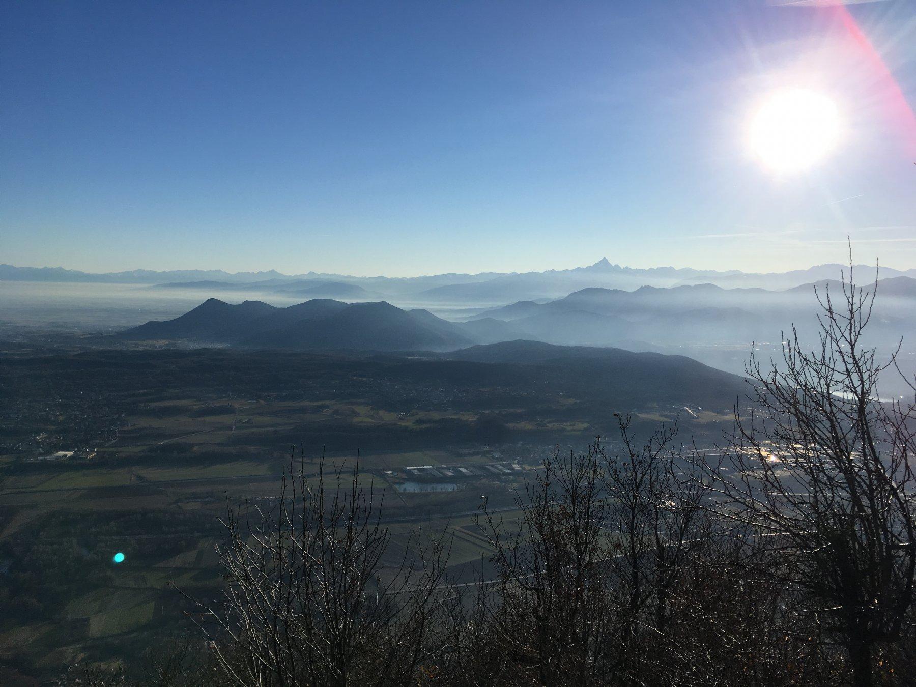 Panorama dal Monte Musinè e il Monviso