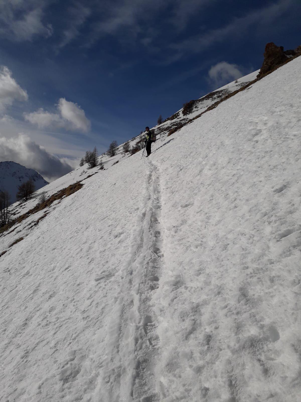 8-1-19 nevai sul sentiero verso il m.te jafferau