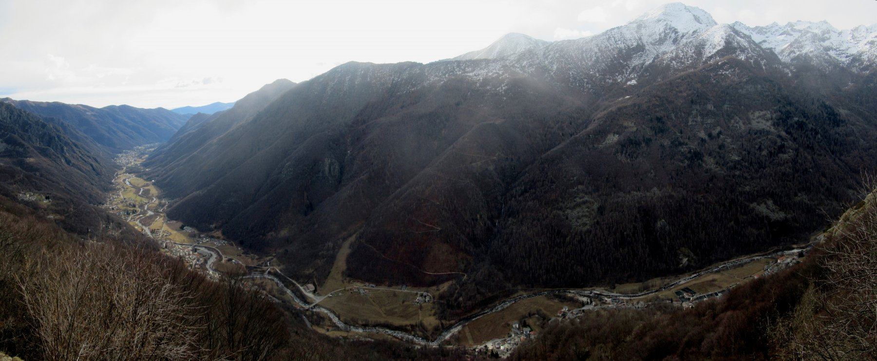 Vista sulla Val Grande di Lanzo