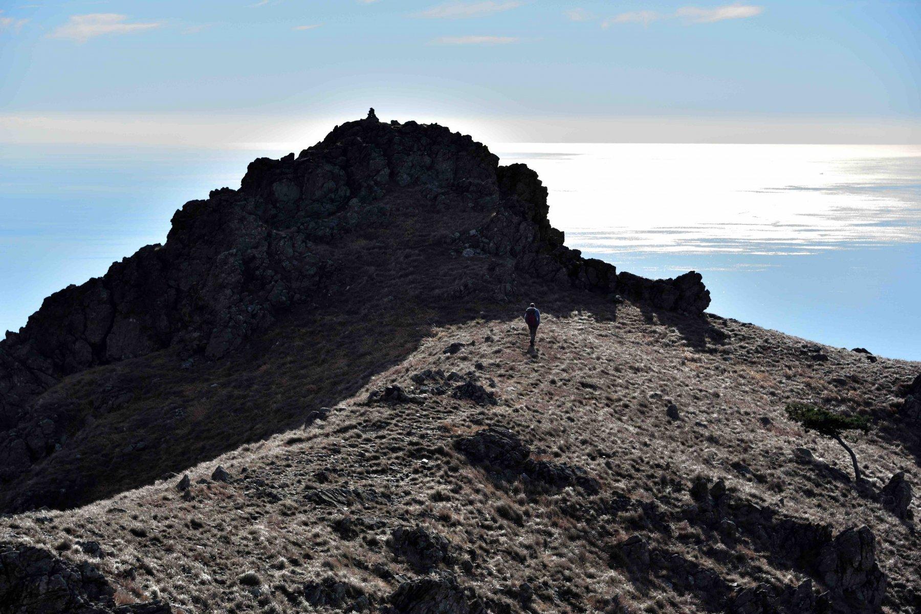 Le rocce sommitali della Rocca Negra.