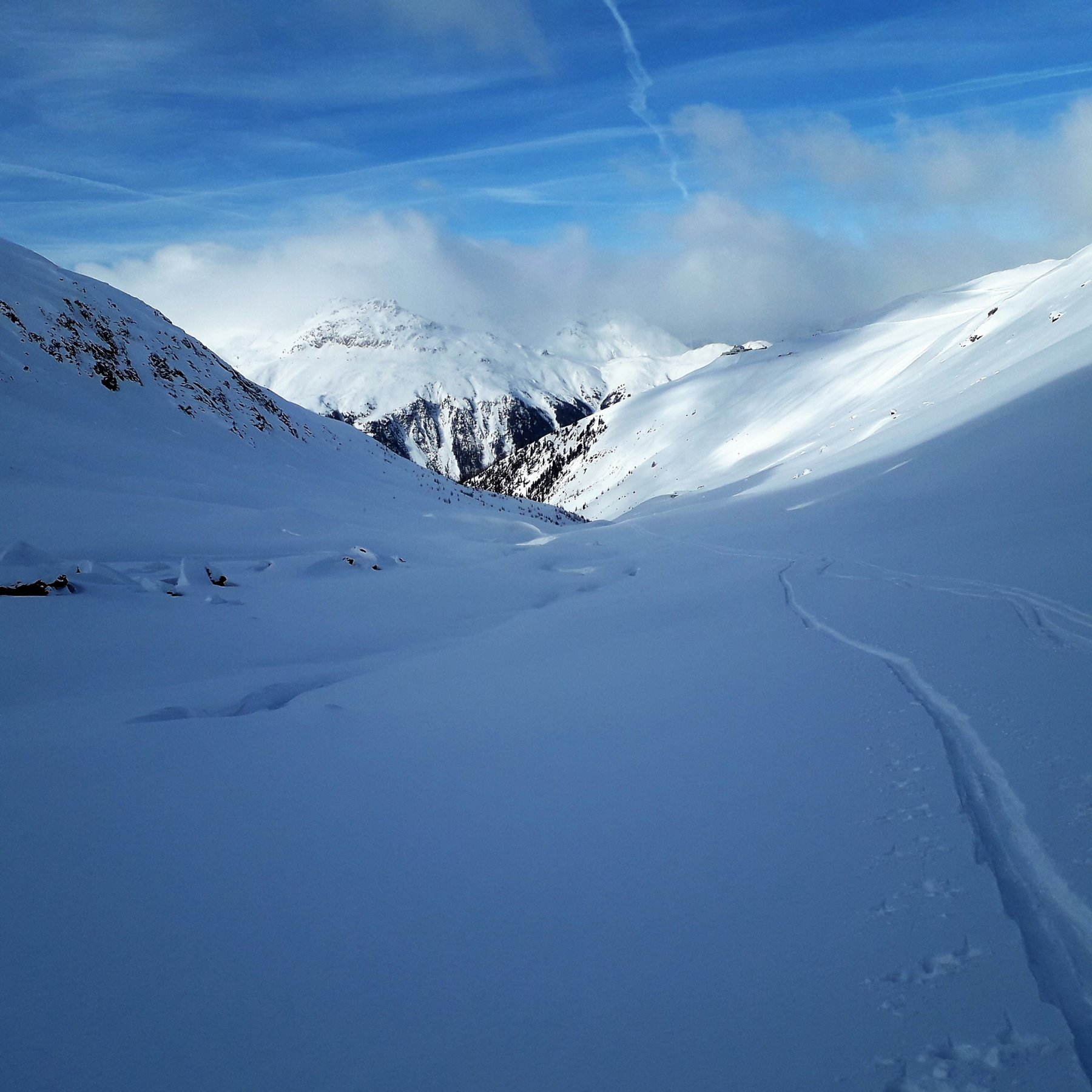 Verso valle
