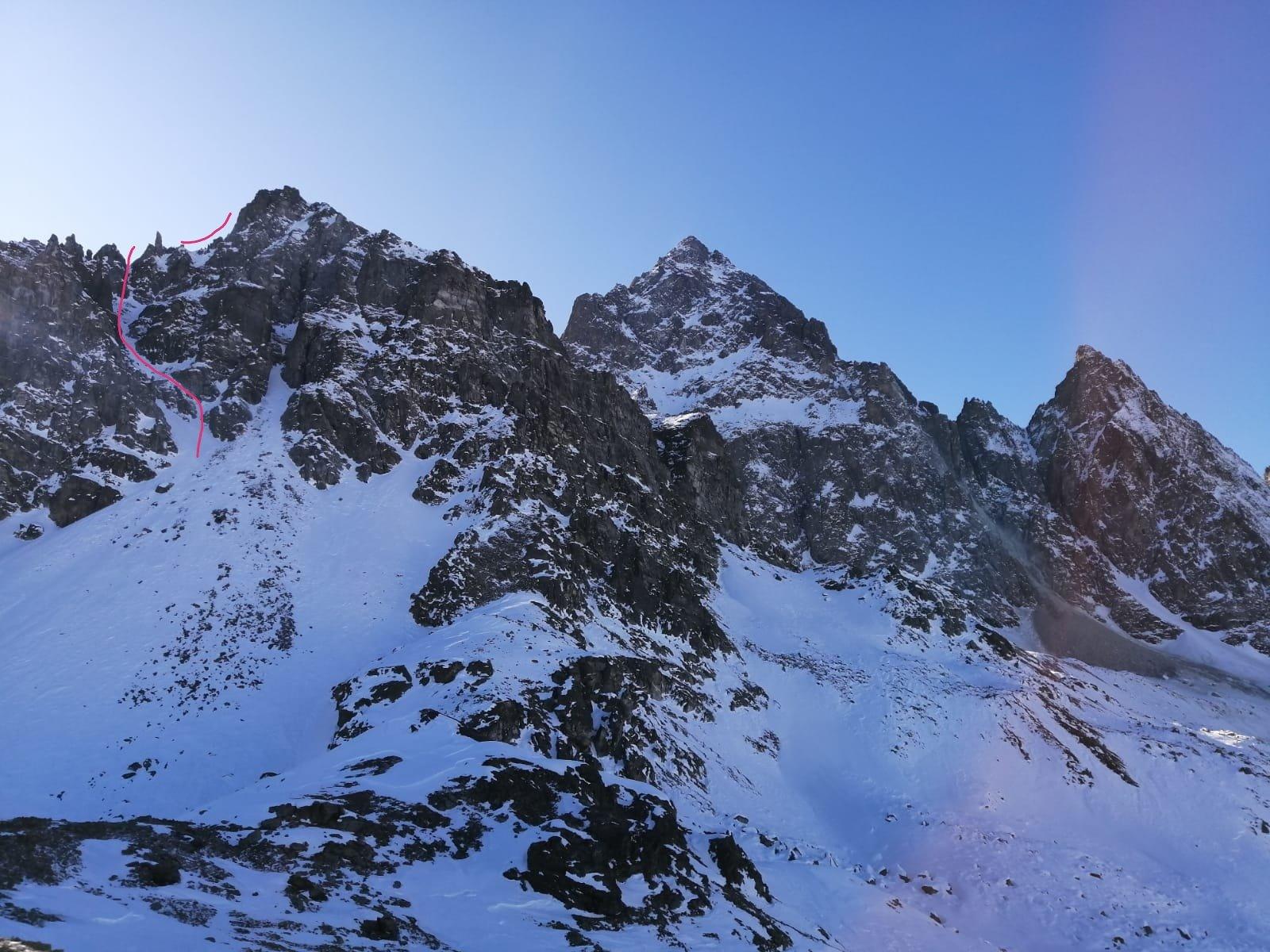 Il percorso visto dal monte Grané