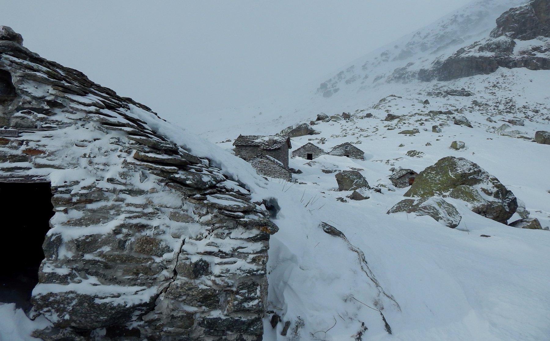 Ai Gias del Laghi, neve poca ma tanto vento