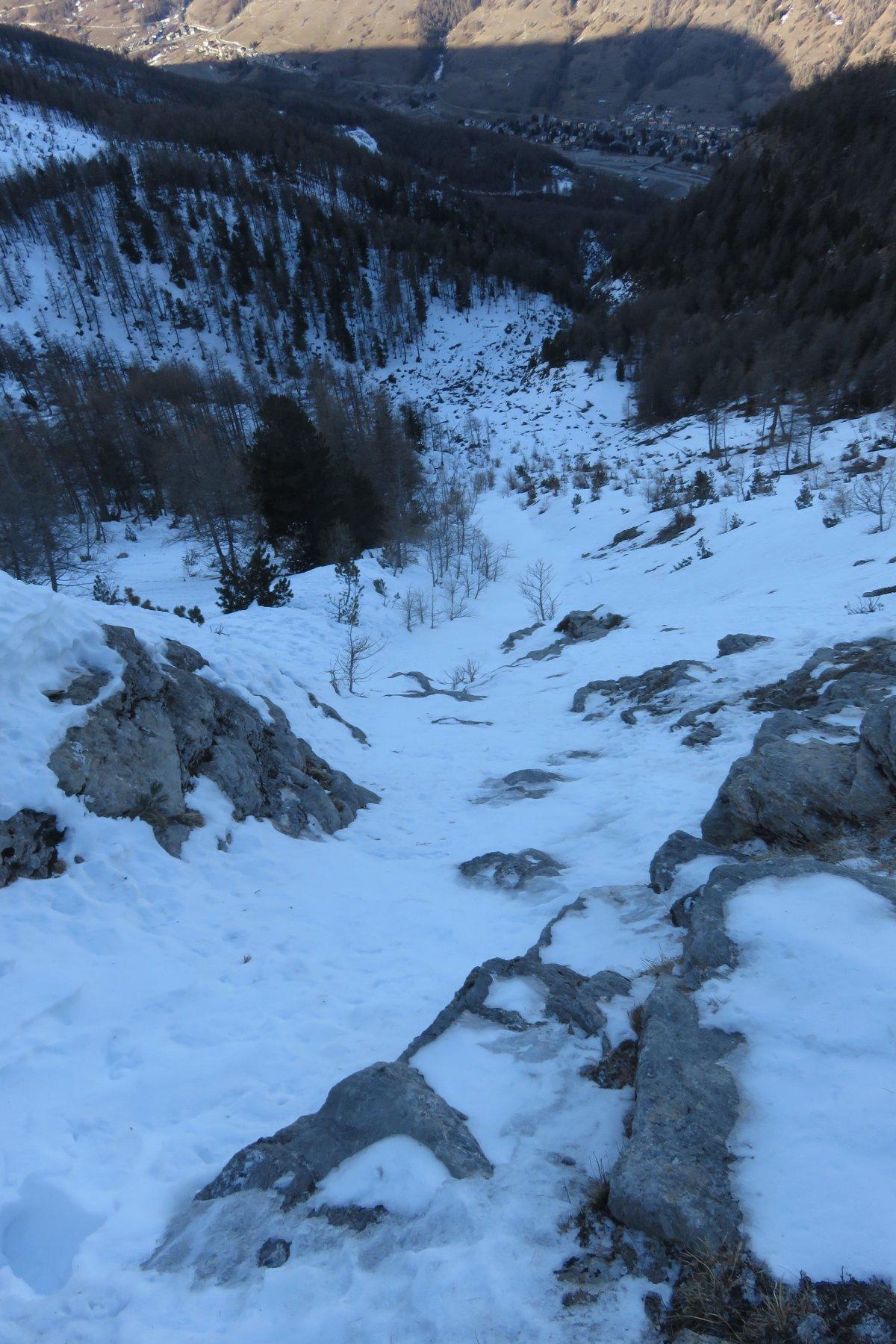 sopra il tratto di misto/ghiaccio