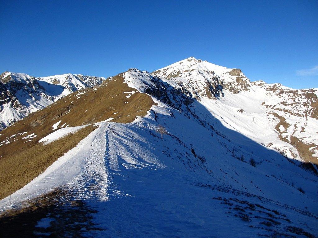 La neve dal monte Crosetta