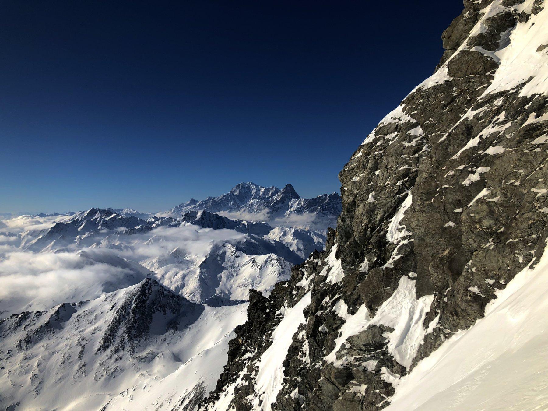Grandes Jorasses e Monte Bianco