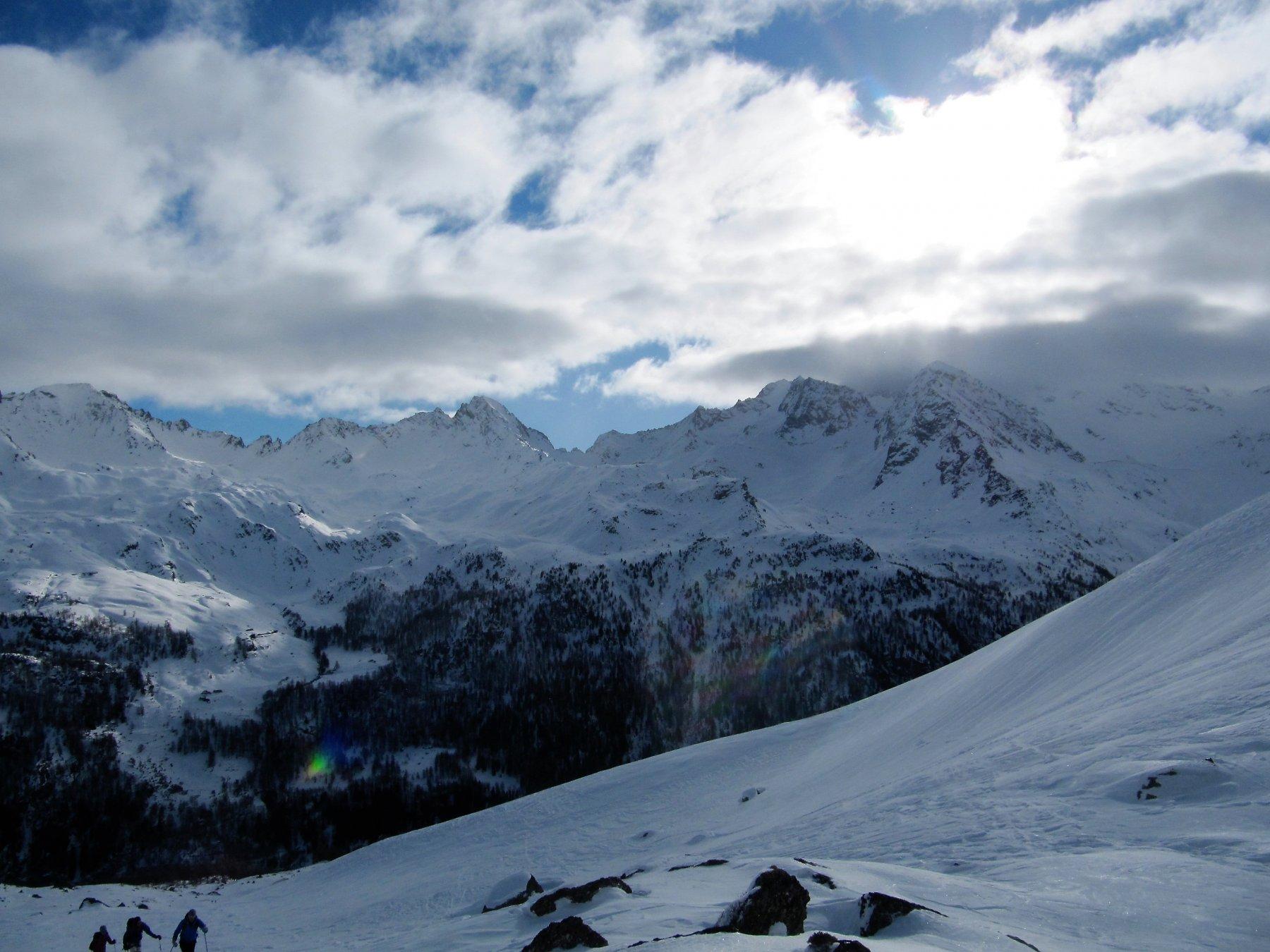 Panorama su Rabuigne e Forciaz.
