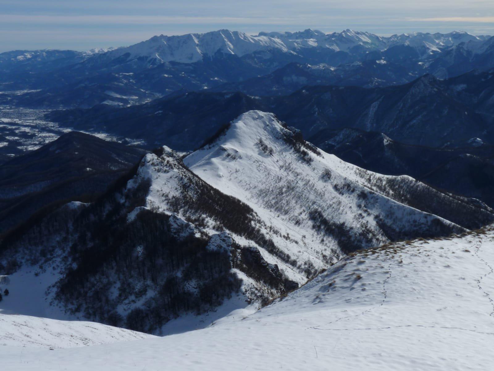 Tajare' e panorama dalla cima