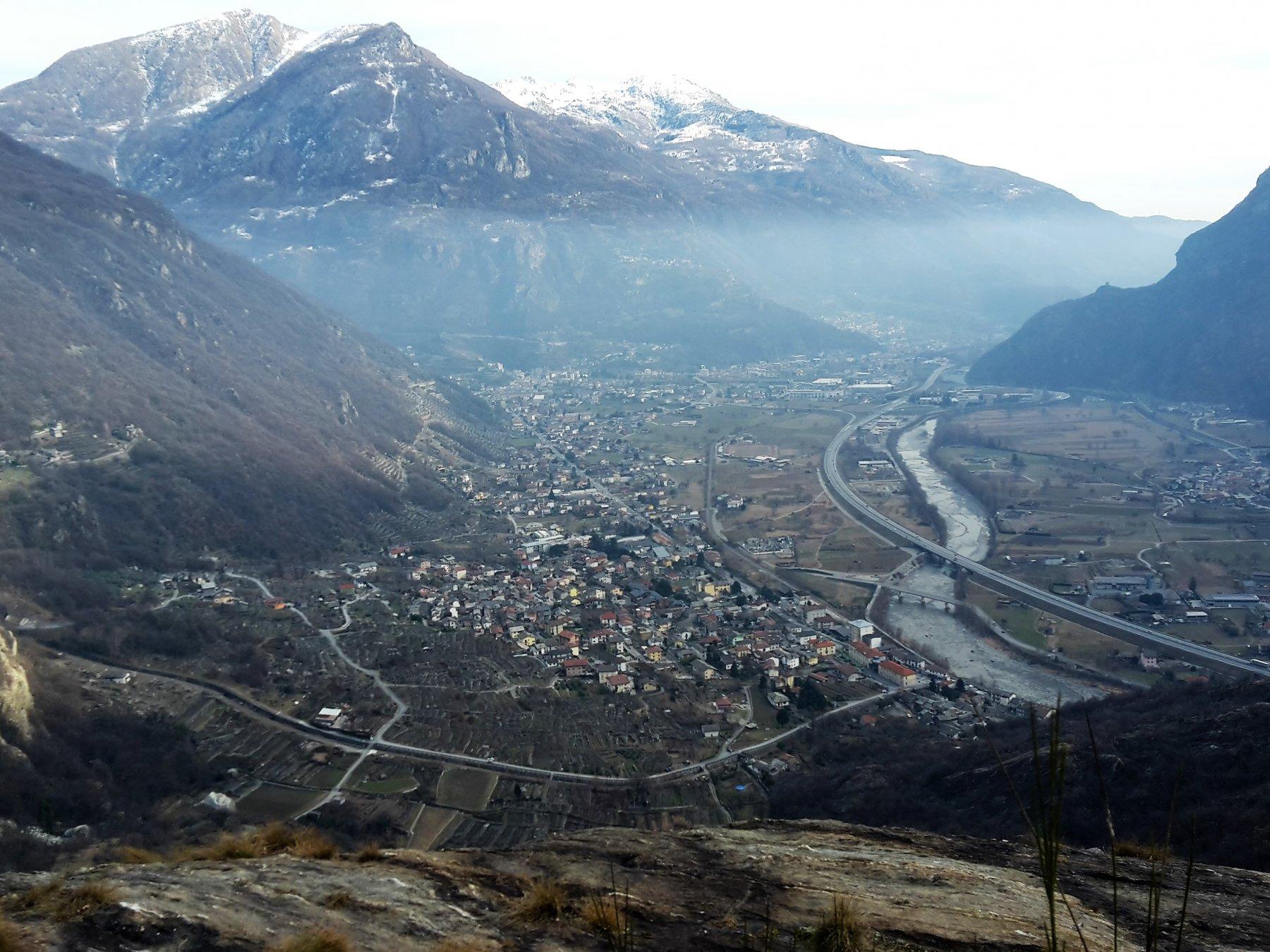 panorama sul fondo valle