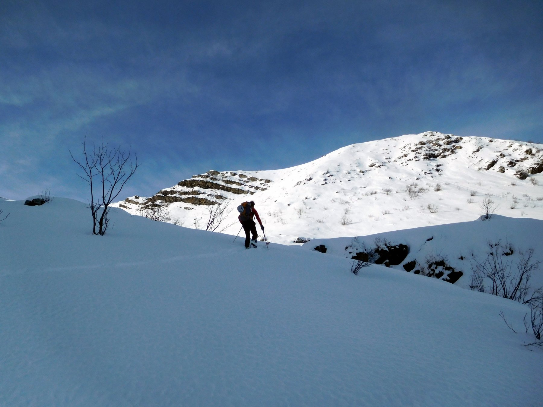 si batte traccia in neve profonda