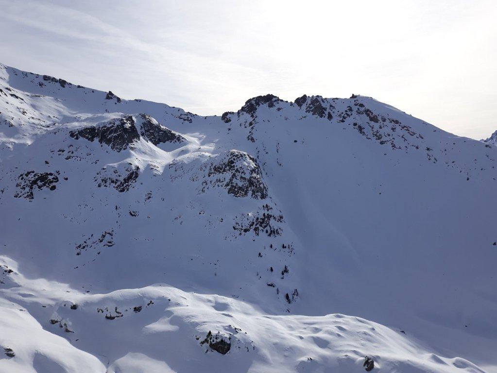la cima Vallonetto dalla vetta