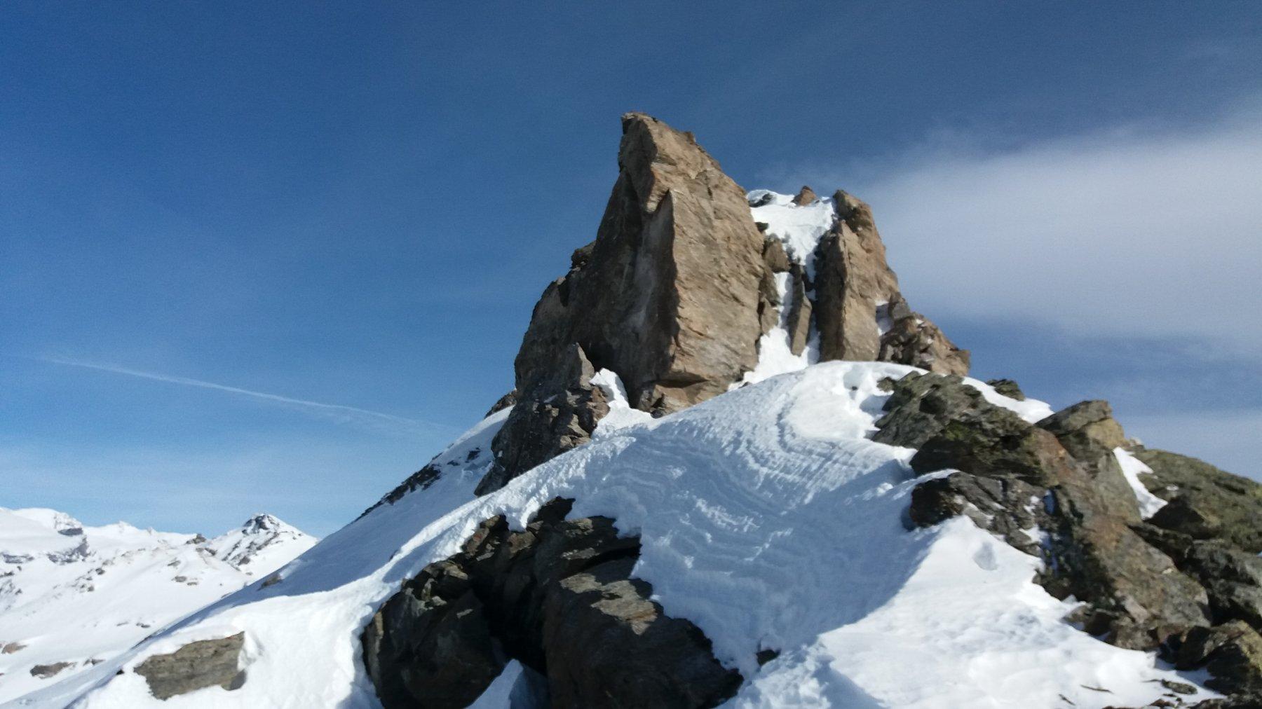 Pendio finale alpinistico
