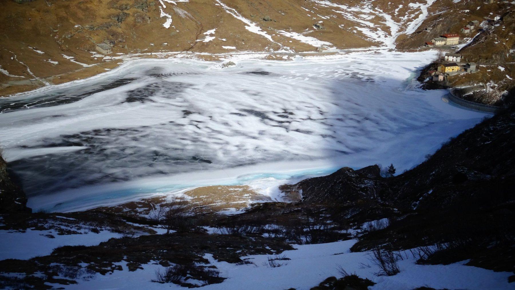 il Lago di Malciaussia effetto nuvola