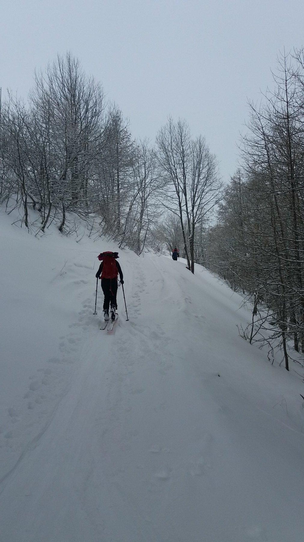Neve su tutto il percorso