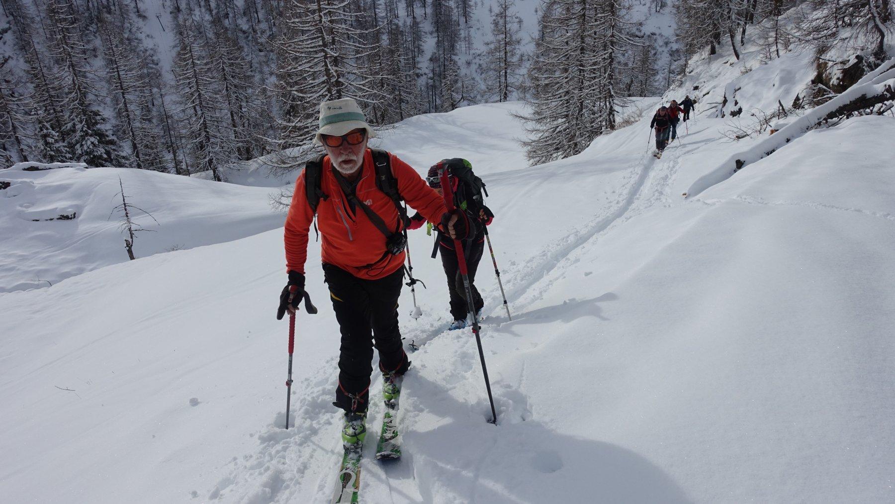 Verso l'alpe Champlong