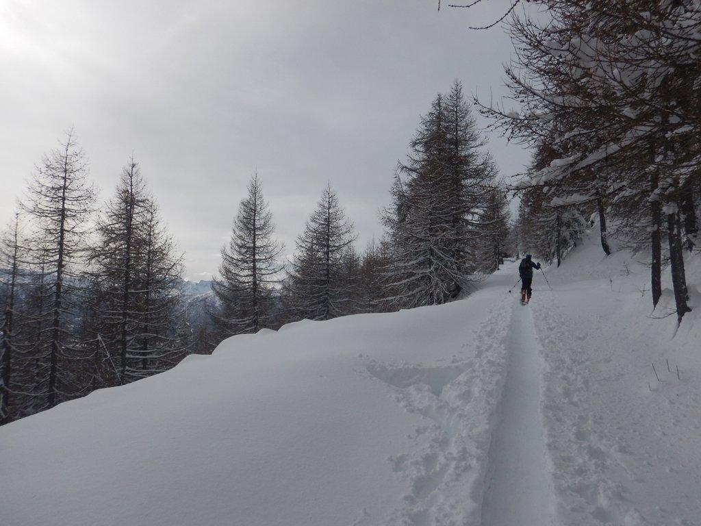 Ultima parte seguendo il percorso invernale di salita
