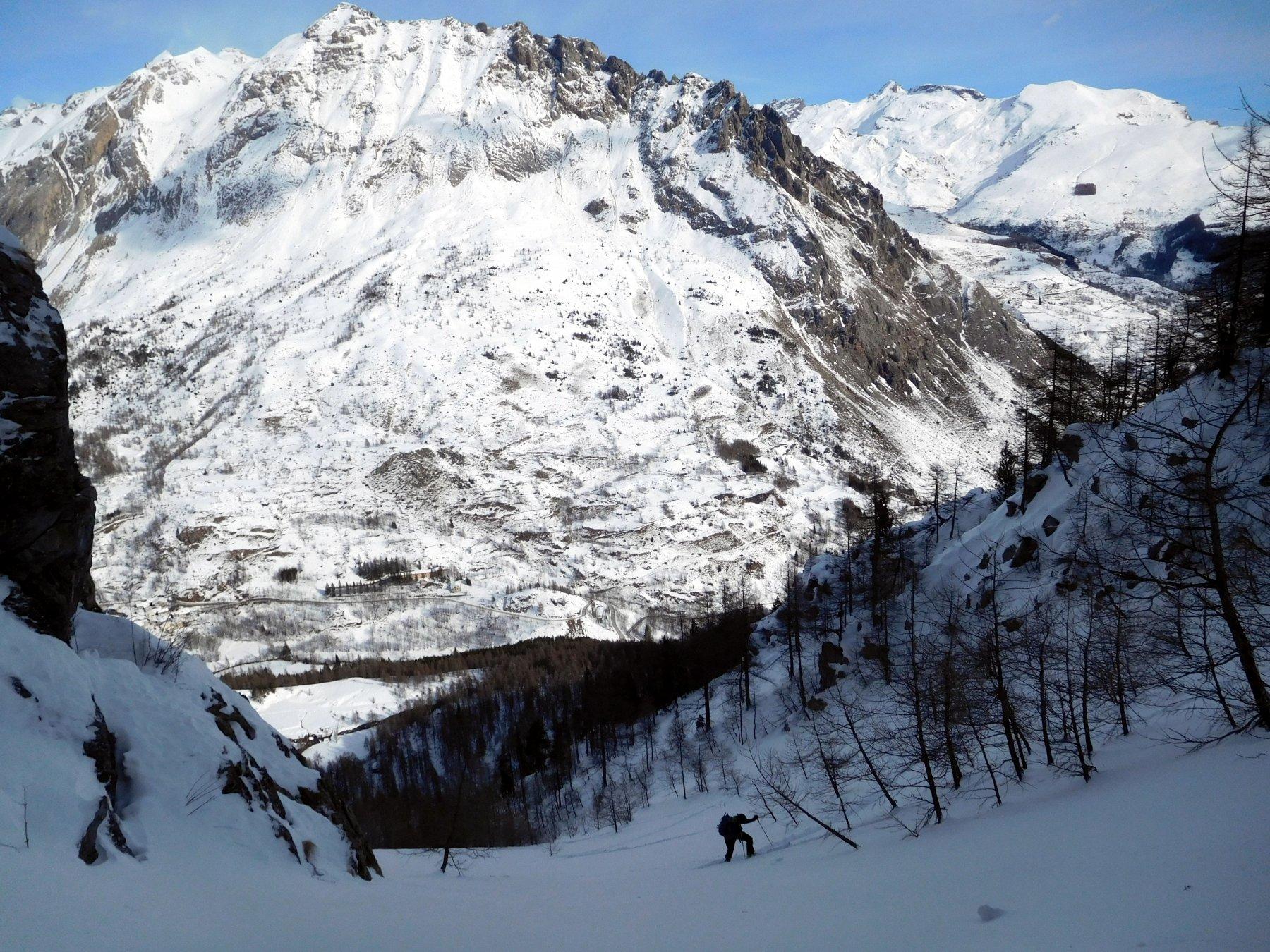 salita comoda in ski