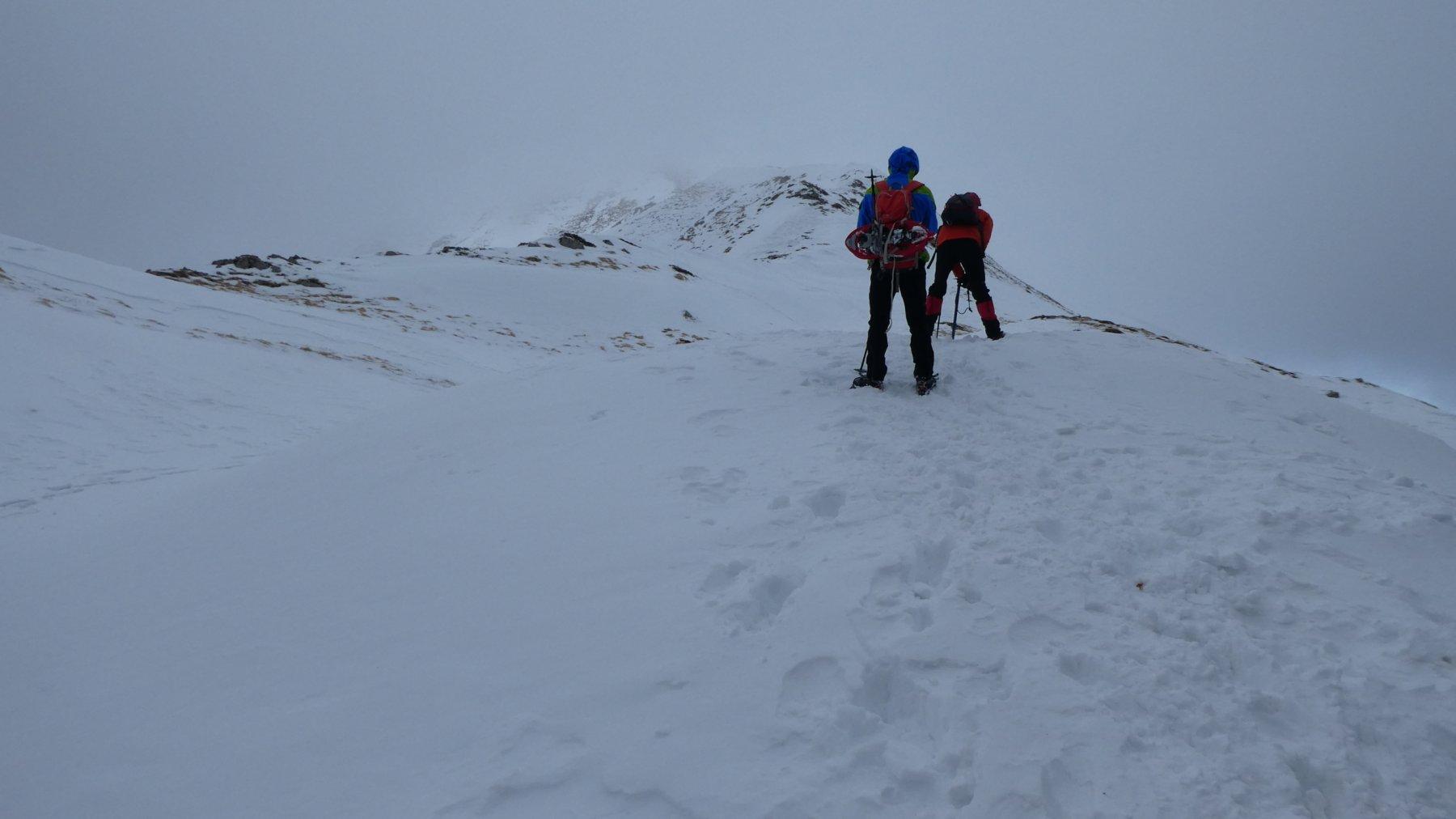 salendo verso il Monte Cavalbianco