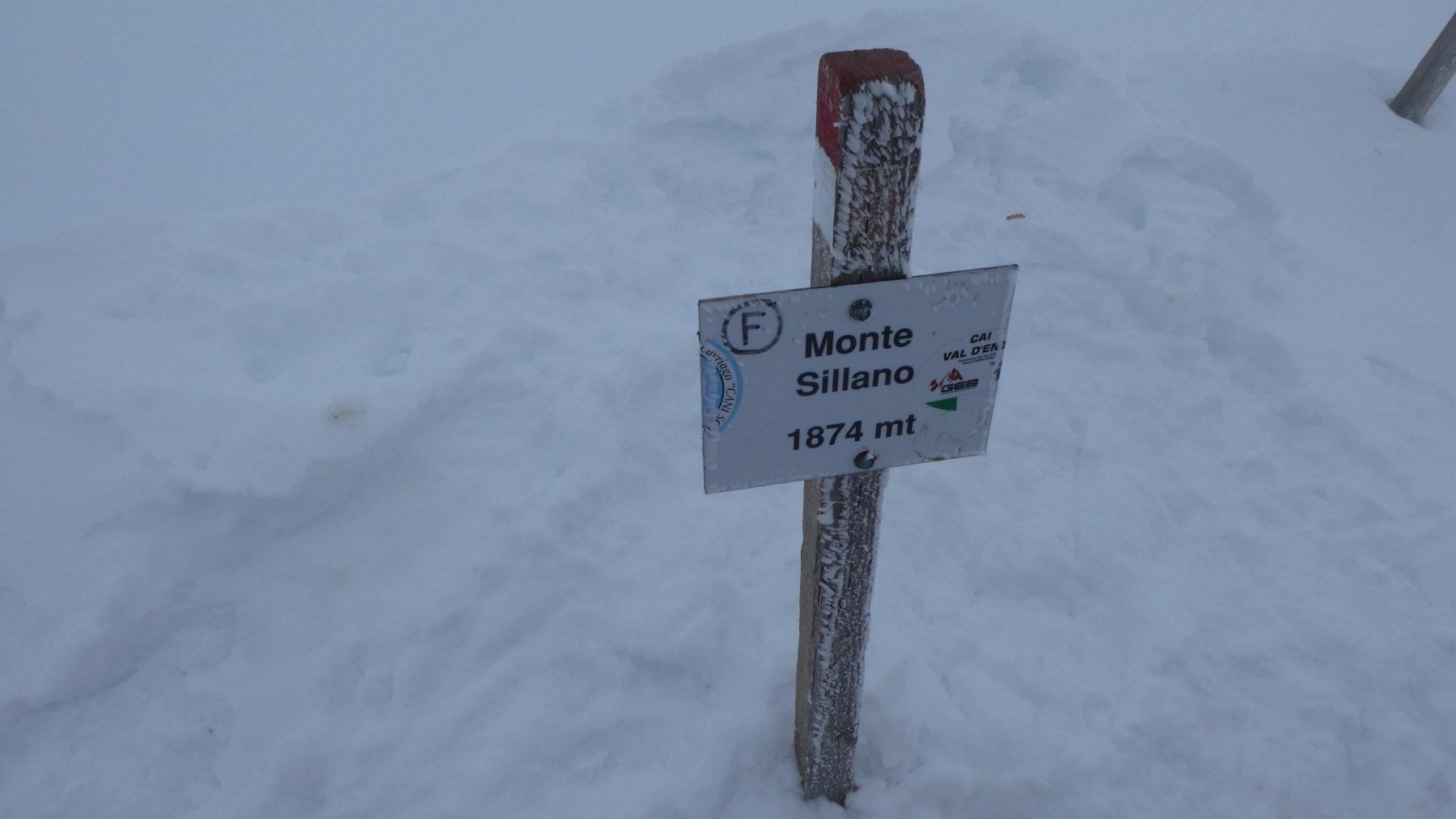 la vetta del Monte Sillano