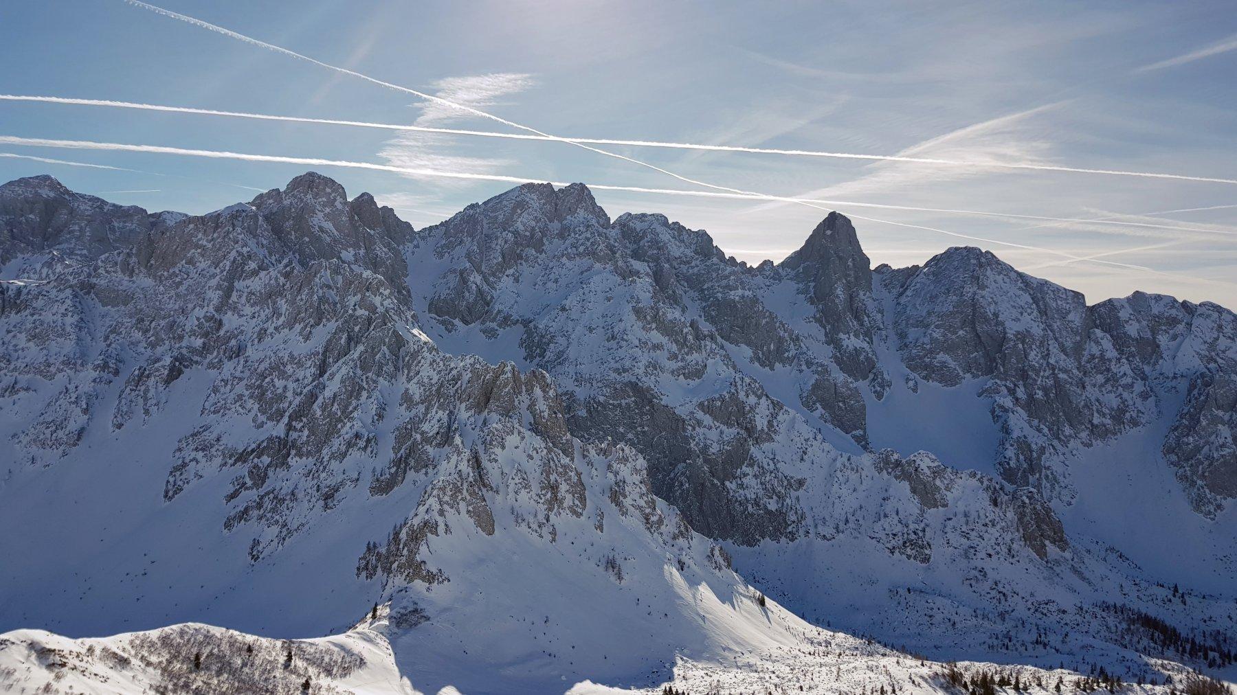 Le Piccole Dolomiti Scalvine viste dalla cima del Campioncino