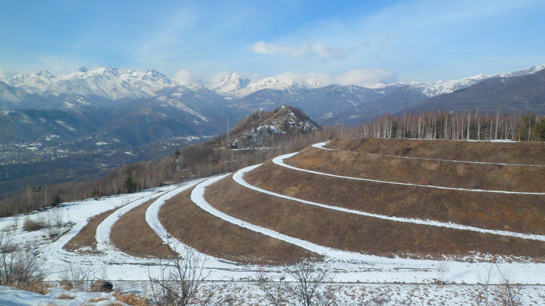 Rolei (Monte) da Case Ciocu e il Monte Giovetto per la cresta Sud-Est 2019-02-09