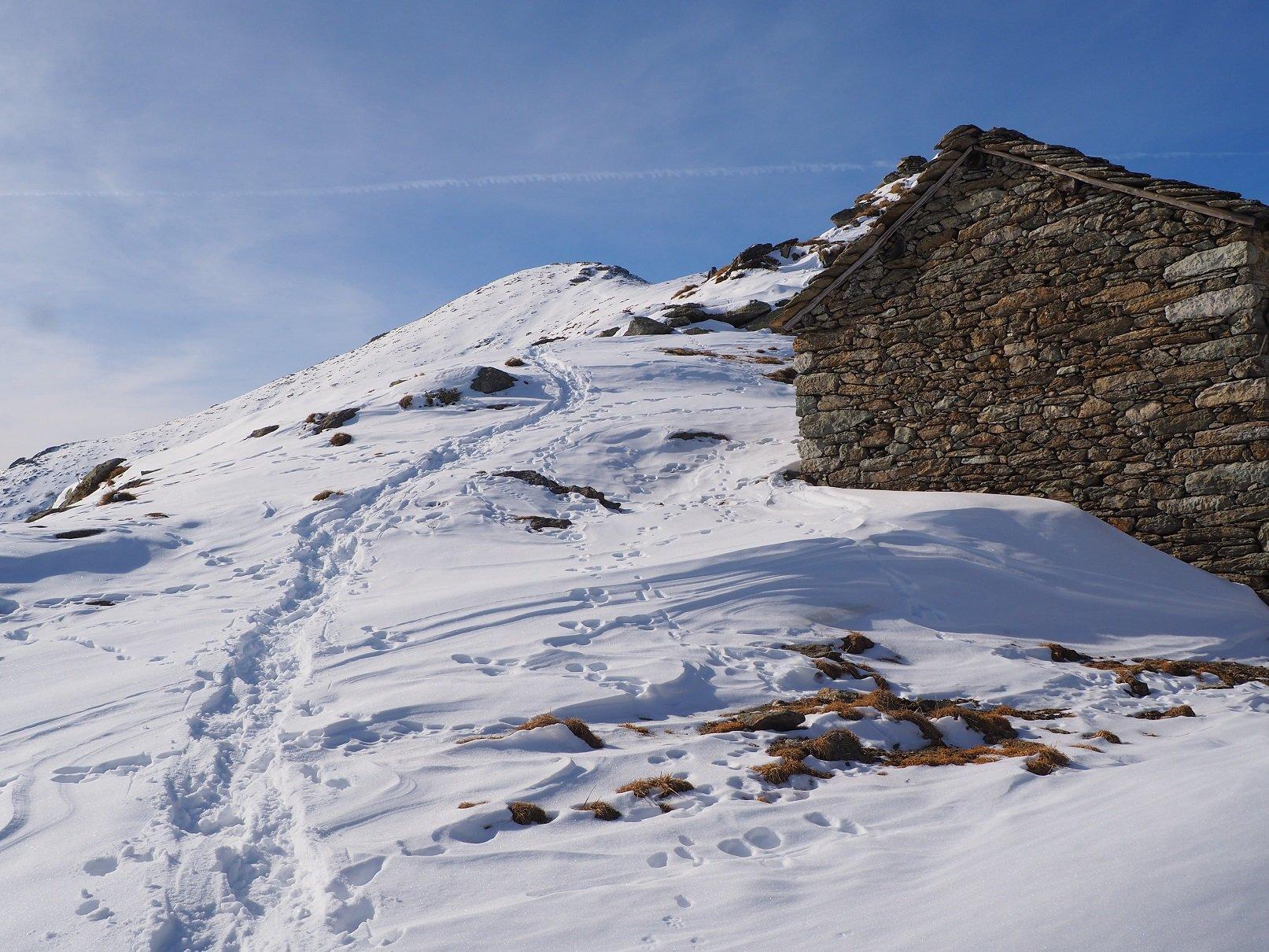 Il tratto finale dall'Alpe del Caluso.