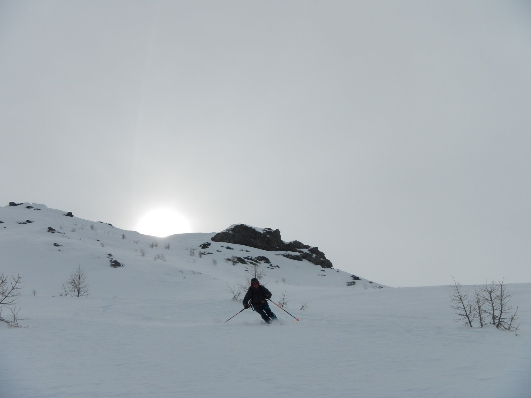 bella neve nei valloncelli esposti a nord