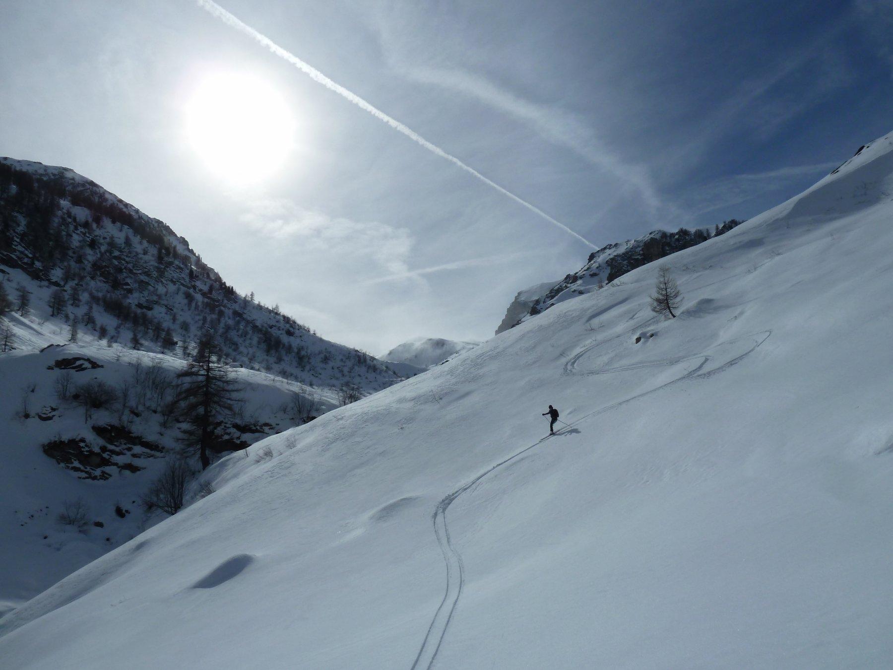 in basso neve ammorbidita dal sole