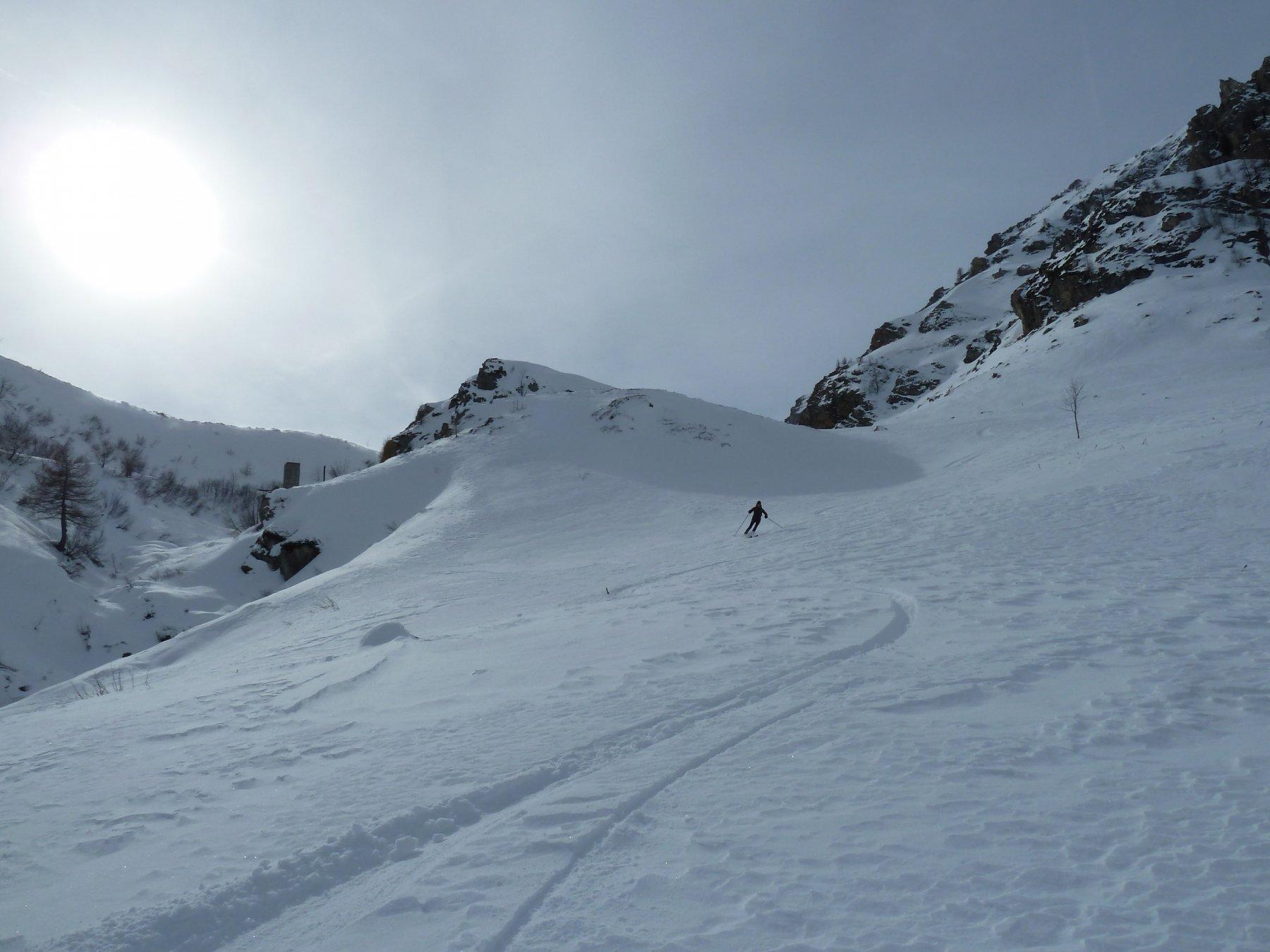 bella neve nelle zone riparate dal vento
