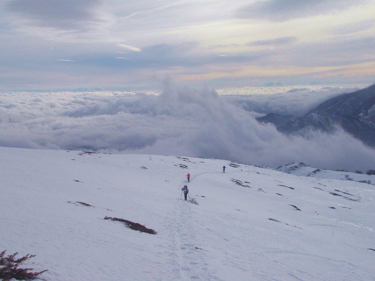 Nuvole minacciose salendo al Monte Berlino