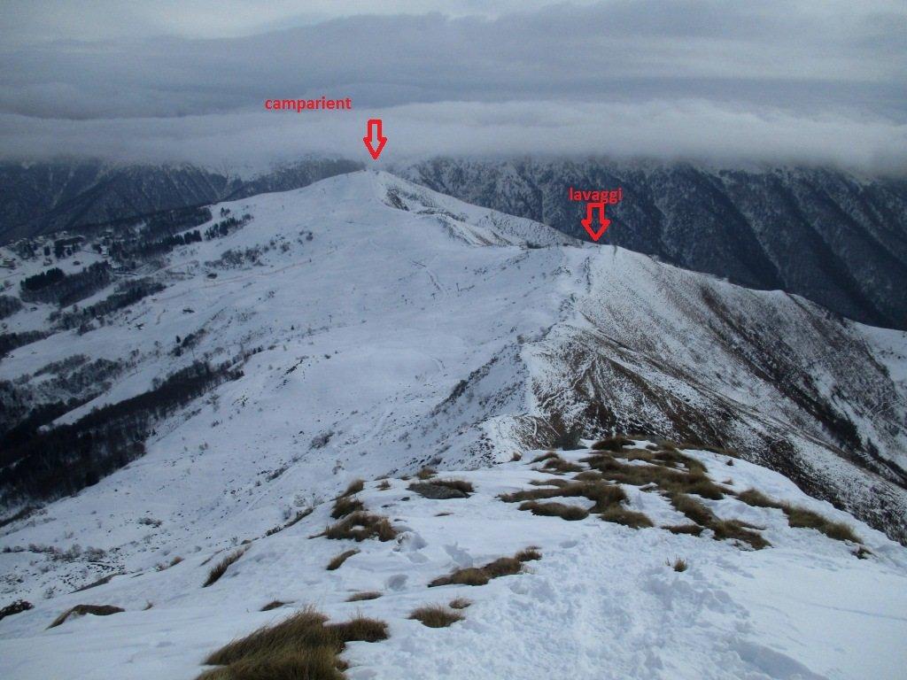 Ometto (Cima d') da Alpe Trogo per il Monte Camparient e Colma dei Lavaggi 2019-02-10