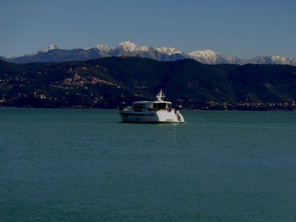Sullo sfondo le Alpi Apuane