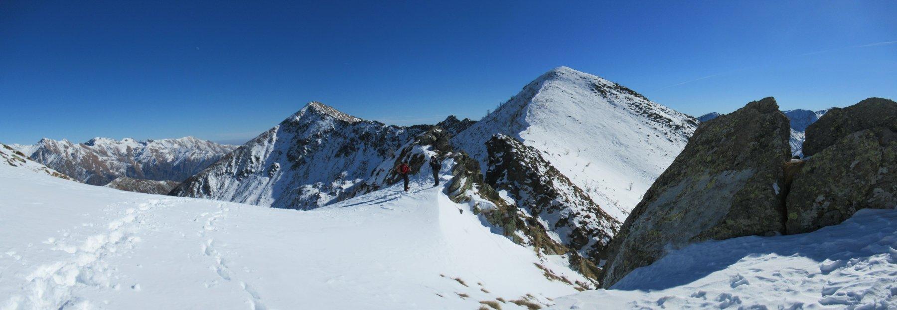 Al colle d'Attia con il Monte Più