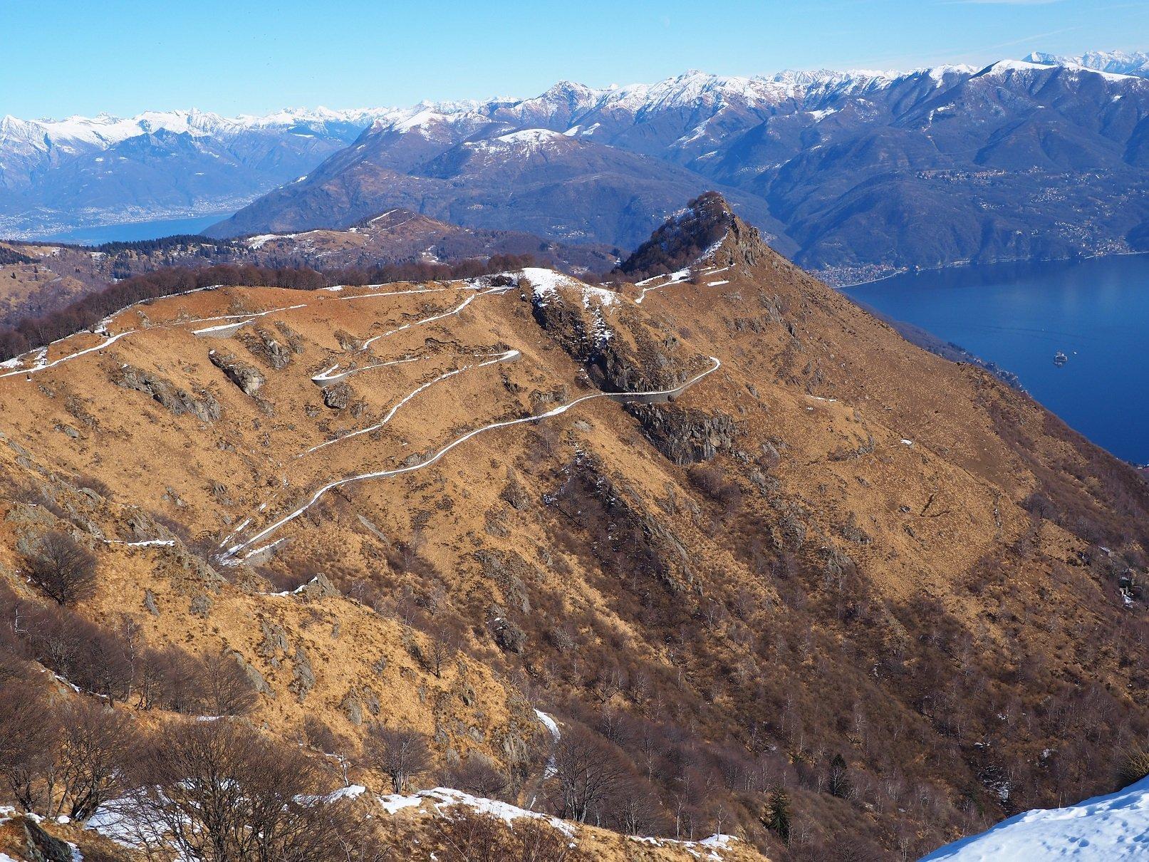 Il Morissolo vista dalla cima del Morissolino.