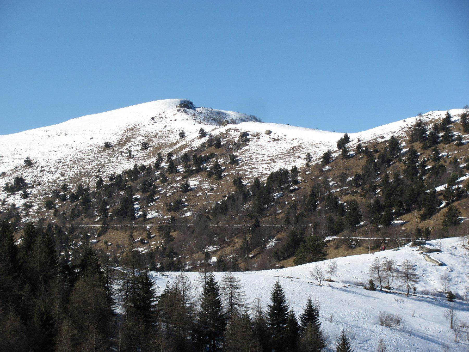 la cima, vista dal colle della Ciabra