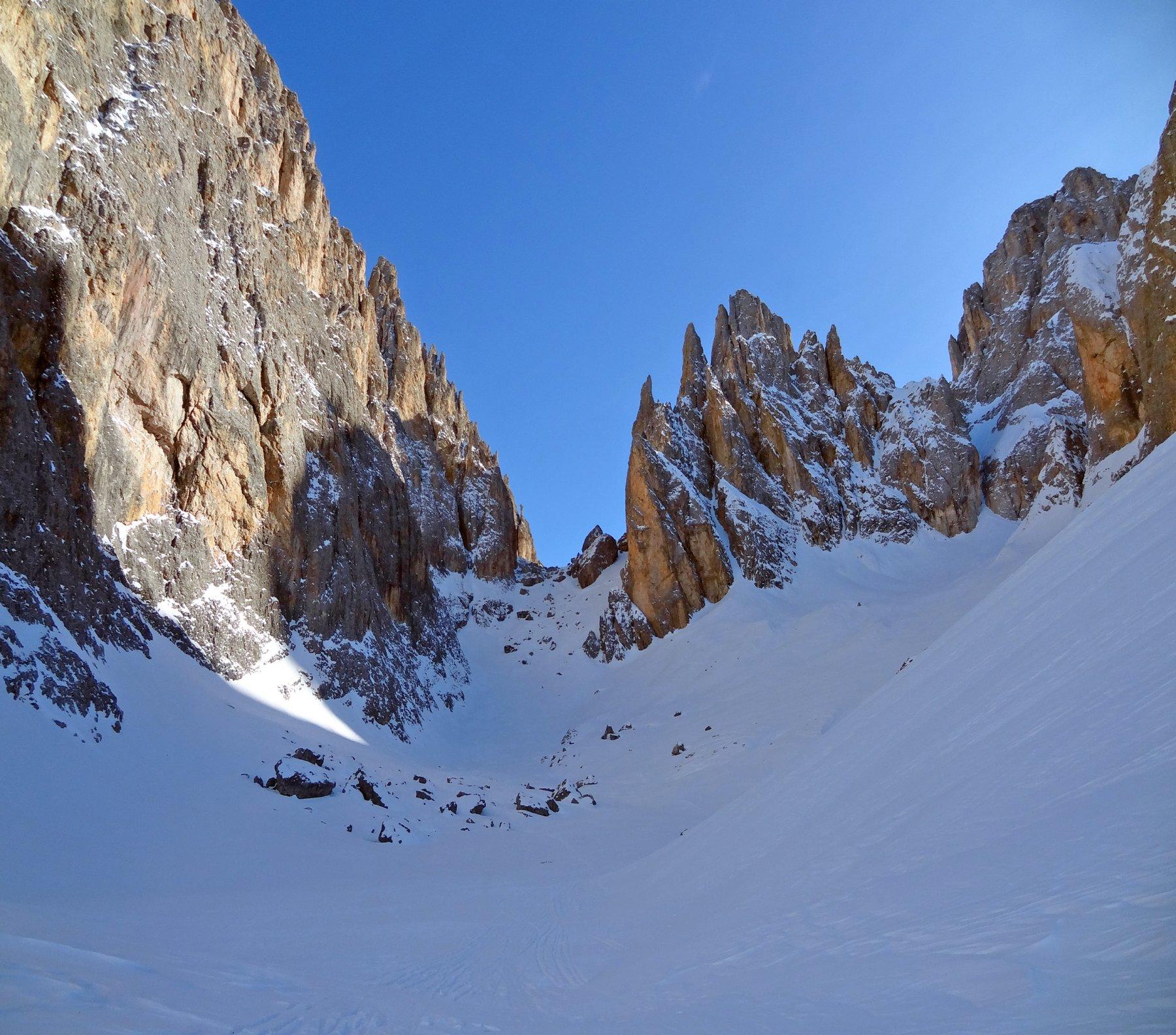 Sassolungo (Forcella del) da Passo Sella, traversata a Santa Cristina Val Gardena 2019-02-15