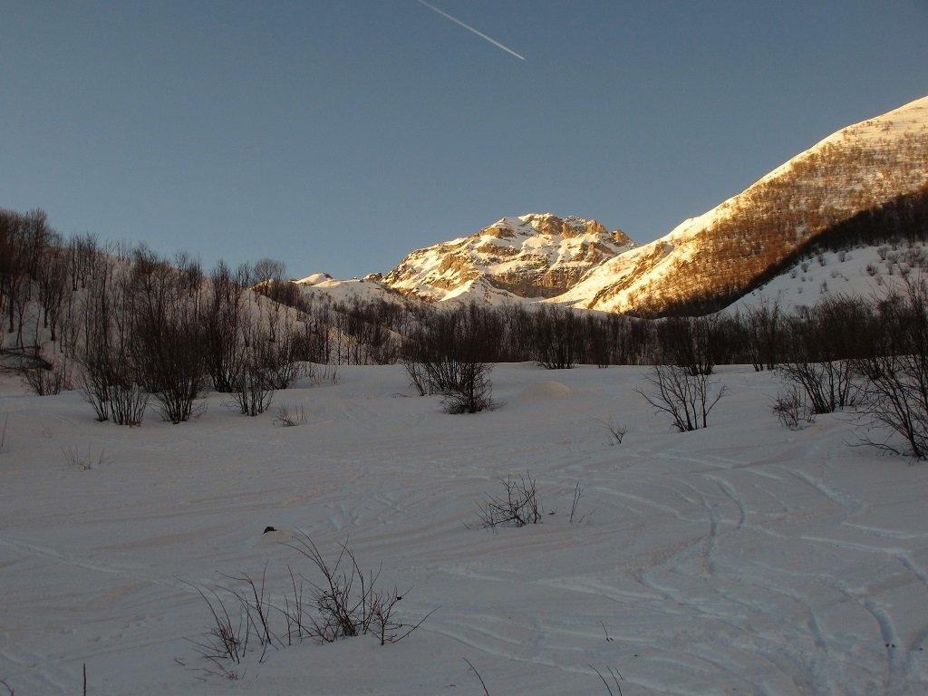Albeggia sul monte Garbella
