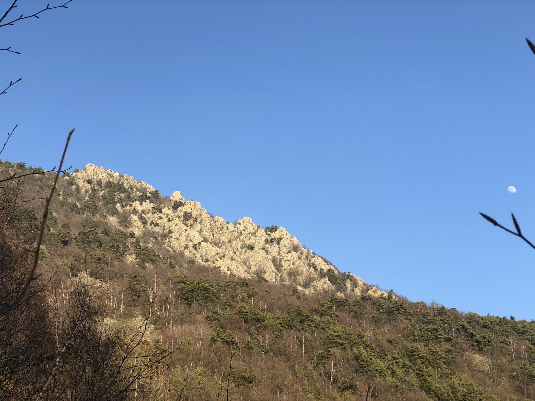 La cresta vista dalla mulattiera