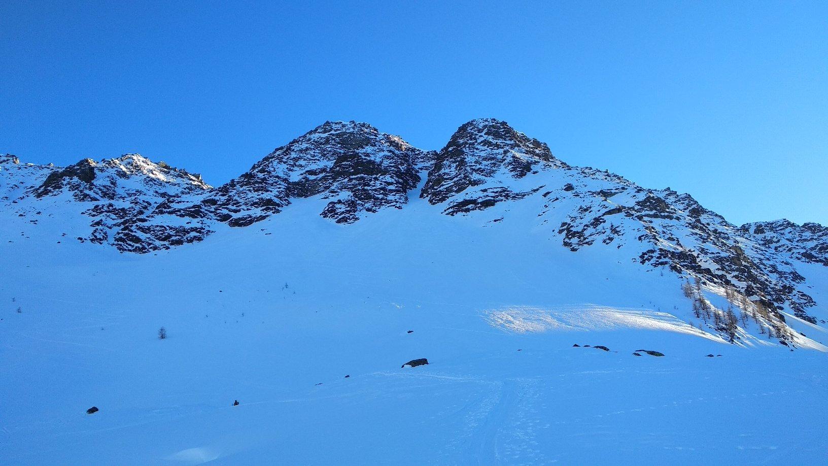 Corleans (Cresta di) forcella 2733 m e quota 2780 m da Mottes per il Couloir N 2019-02-17