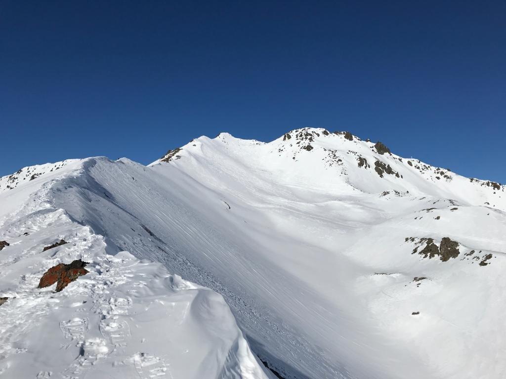 Percorso di cresta per la Punta Gimont