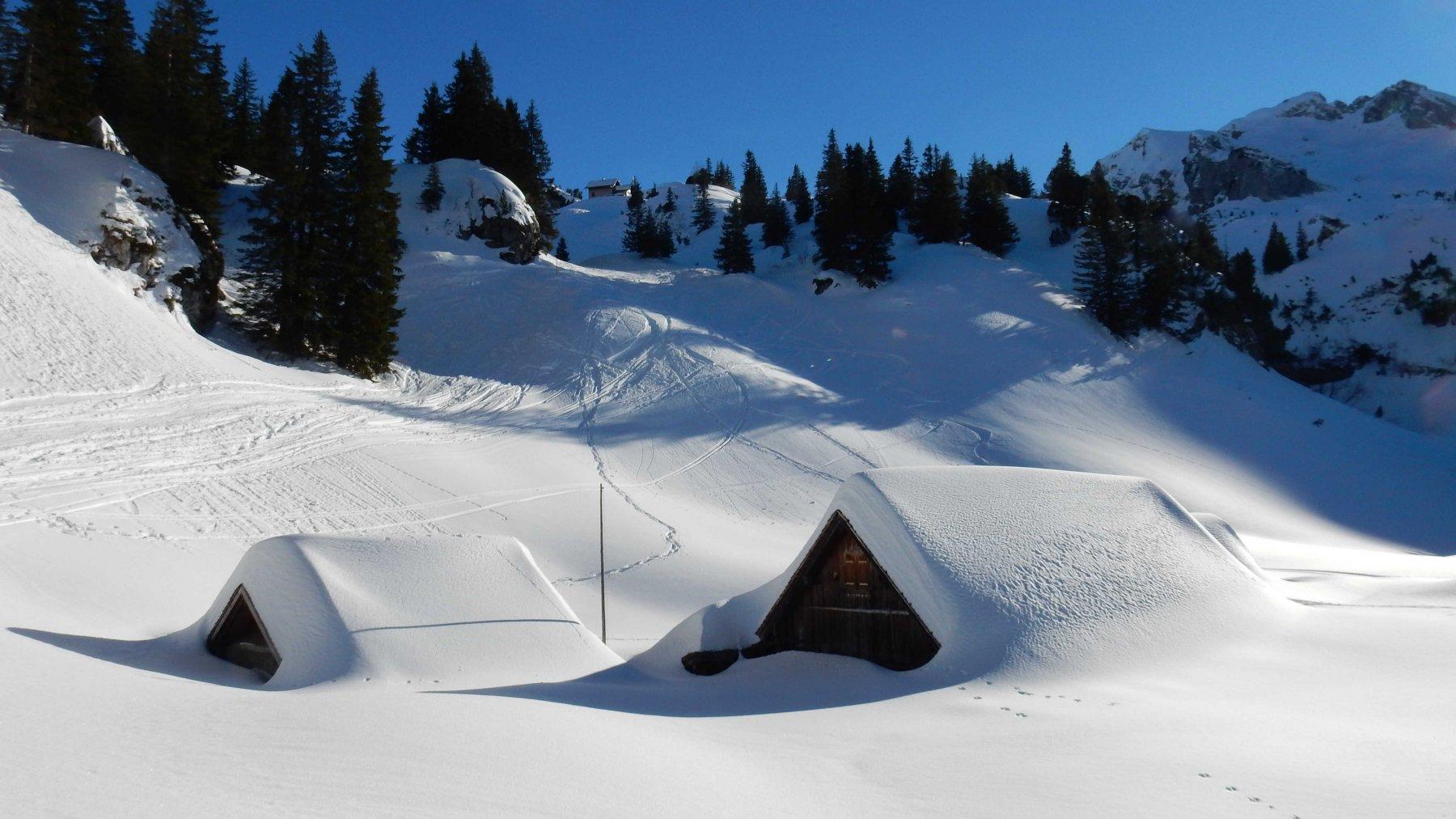 Alp Brohoz 1597mt. sommersa dalla neve.