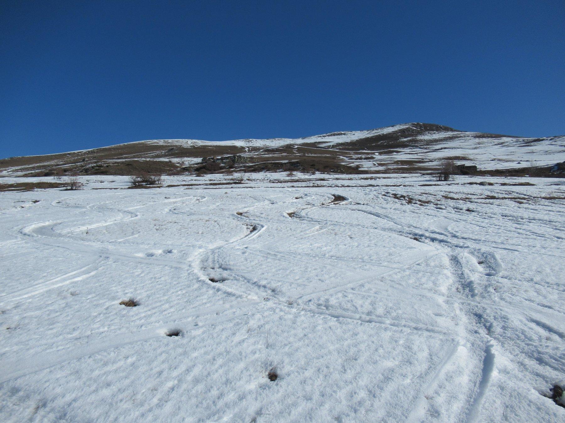 I pendii per il Monte Capell quasi al limite...