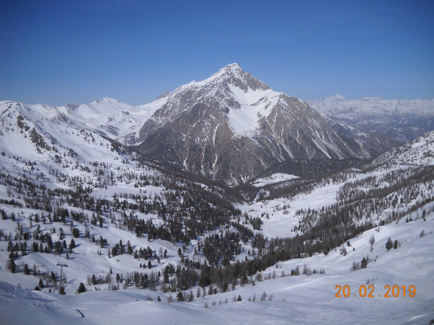 Chaberton visto dalla cima