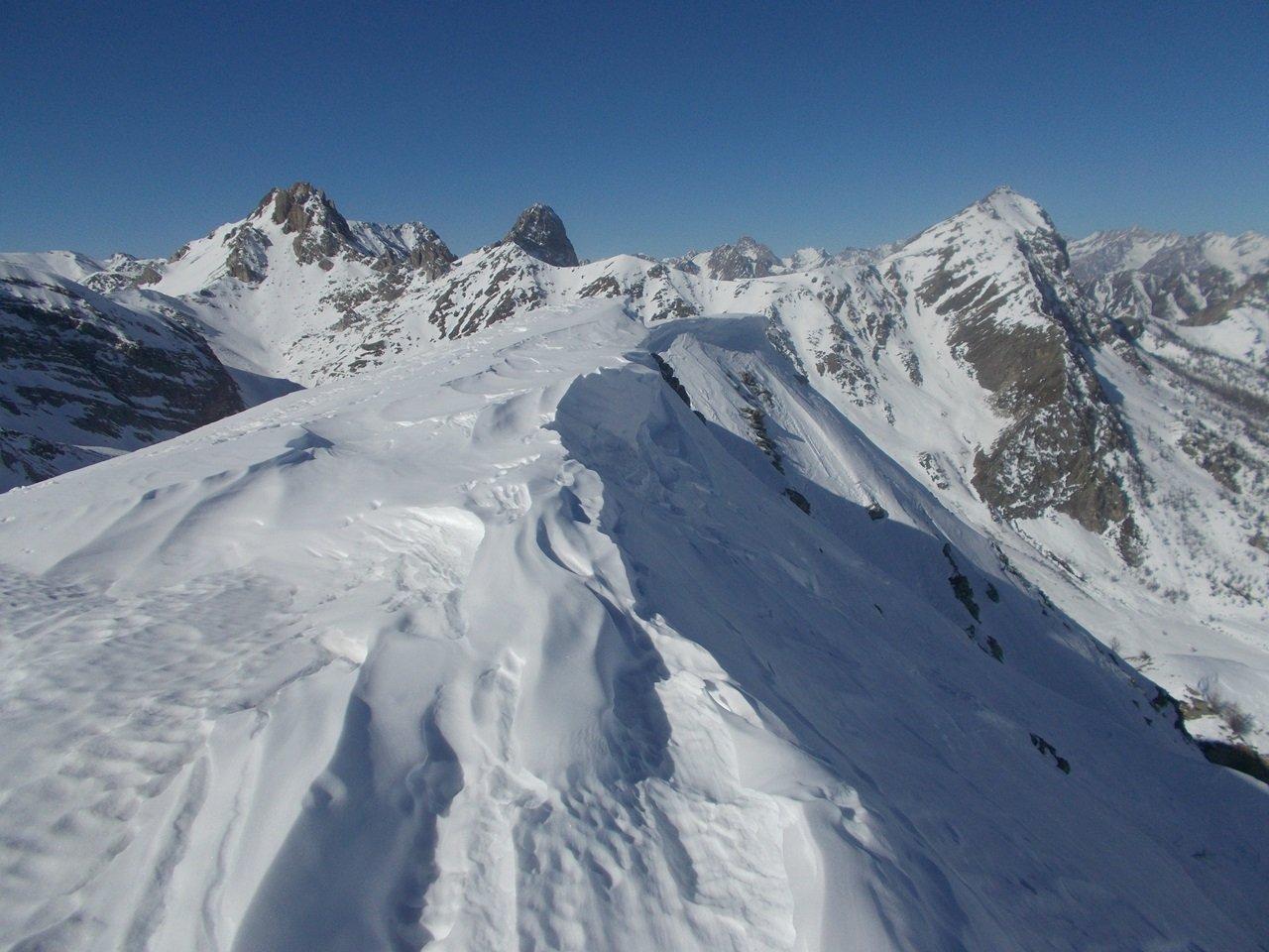 neve ventata su Rocce Ciarmetta