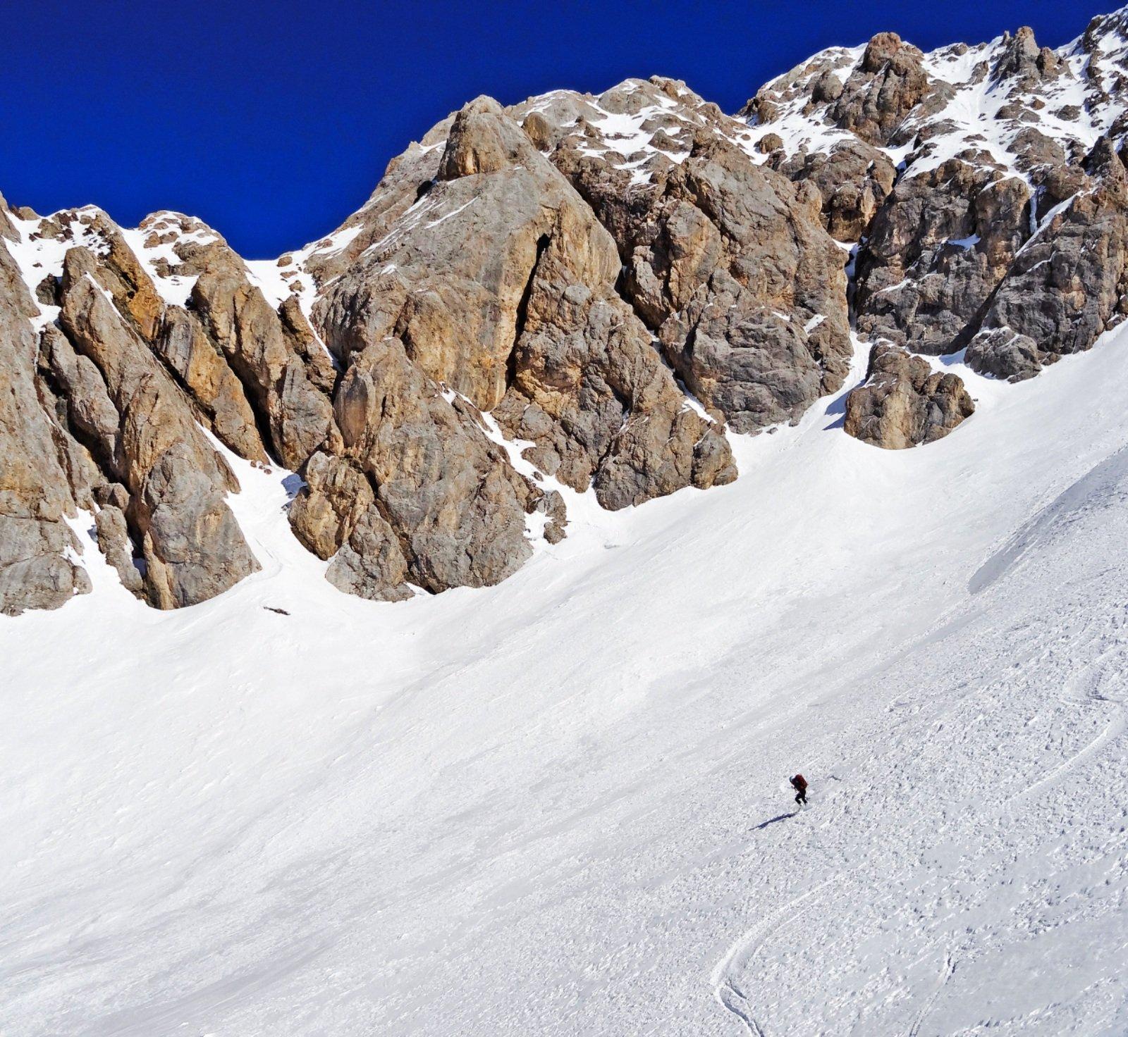 Ombrettola (Cima) da Alba di Canazei per la Val Contrin 2019-02-21