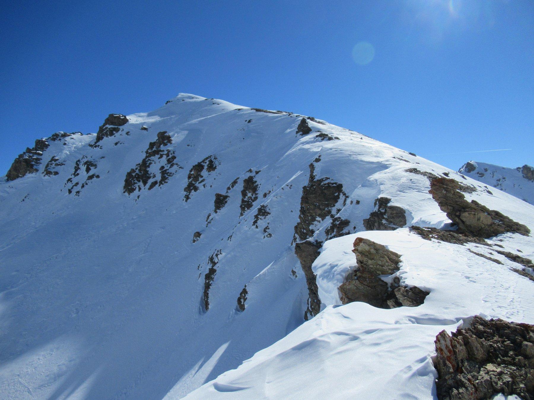 La cresta x il Monte Viraysse