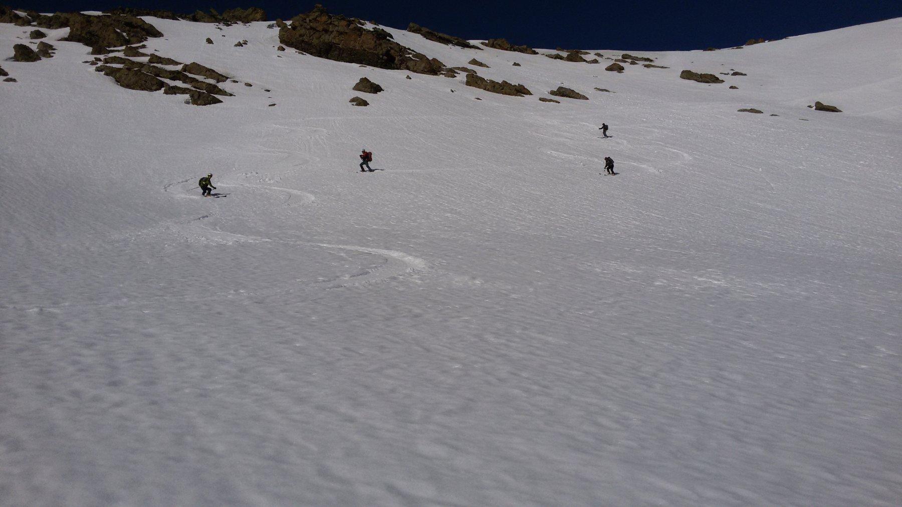 Argentière (Crête d') dal Vallon des Aiguilles 2019-02-23