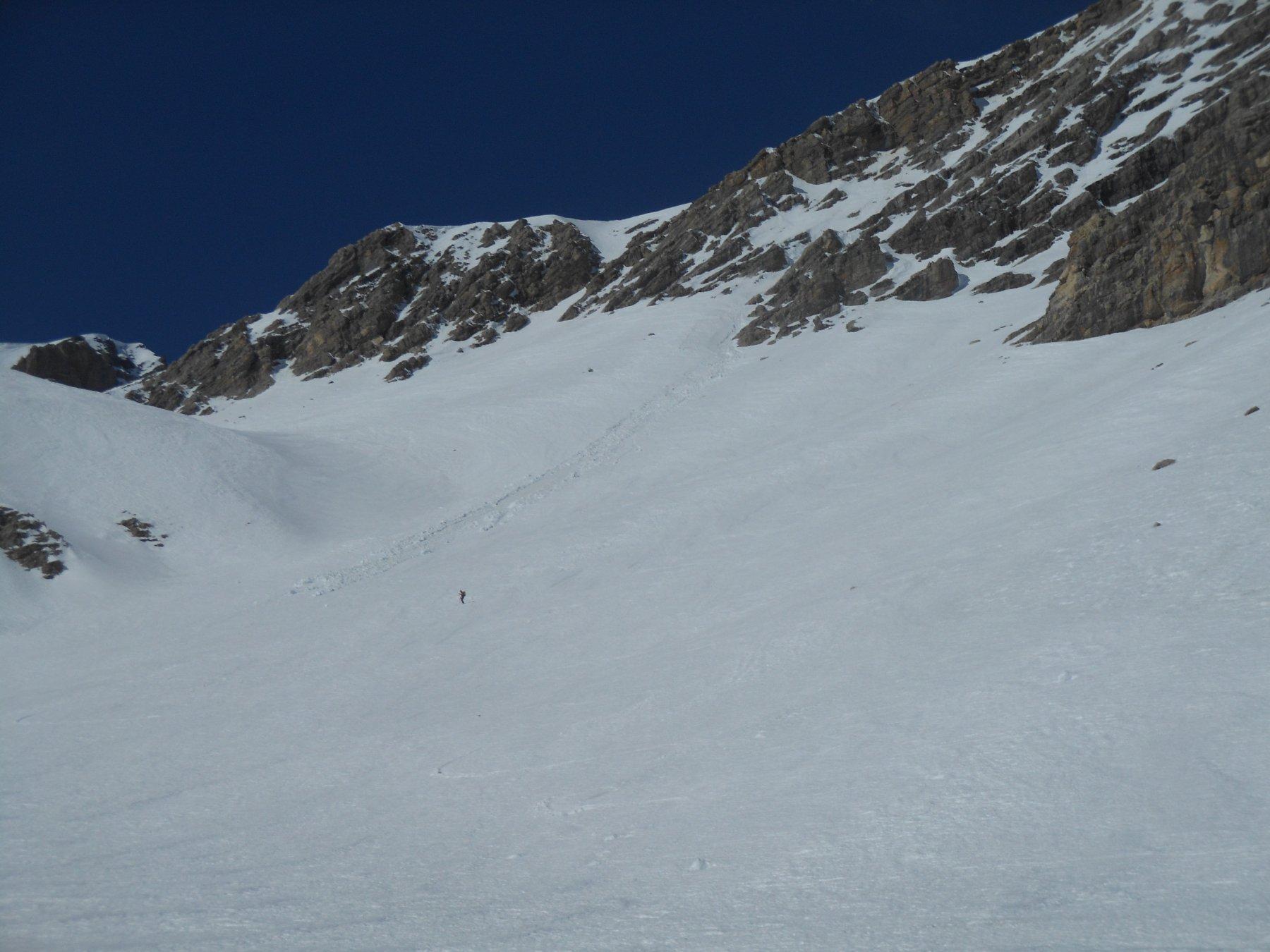 Neve primaverile nella parte bassa, cotta a puntino, spettacolare